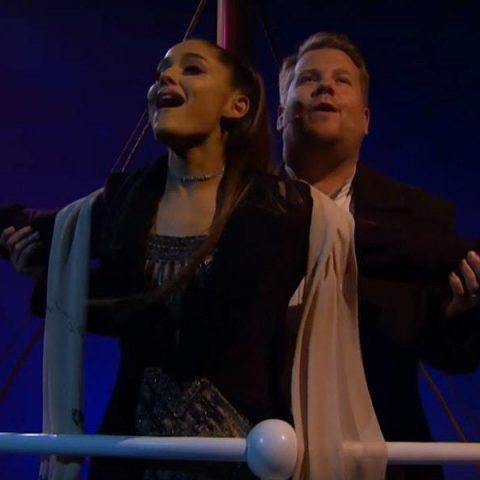 """Ariana Grande e James Corden transformam em musical a história de """"Titanic"""""""