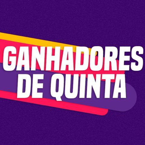 GANHADORES DE QUINTA– 22/08