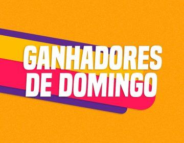 GANHADORES DE DOMINGO – 13/10