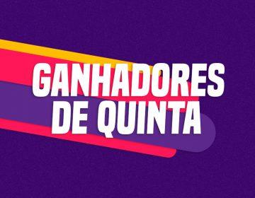 GANHADORES DE QUINTA – 08/10