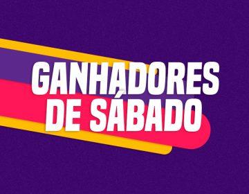 GANHADORES DE SABADO – 10/10